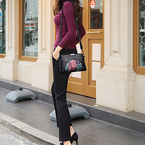 Bag Shopping C Print Retro Zxcb Bag Bag Bag Leather Party Pu Soft Shoulder Messenger Flower Small wBpUO7w