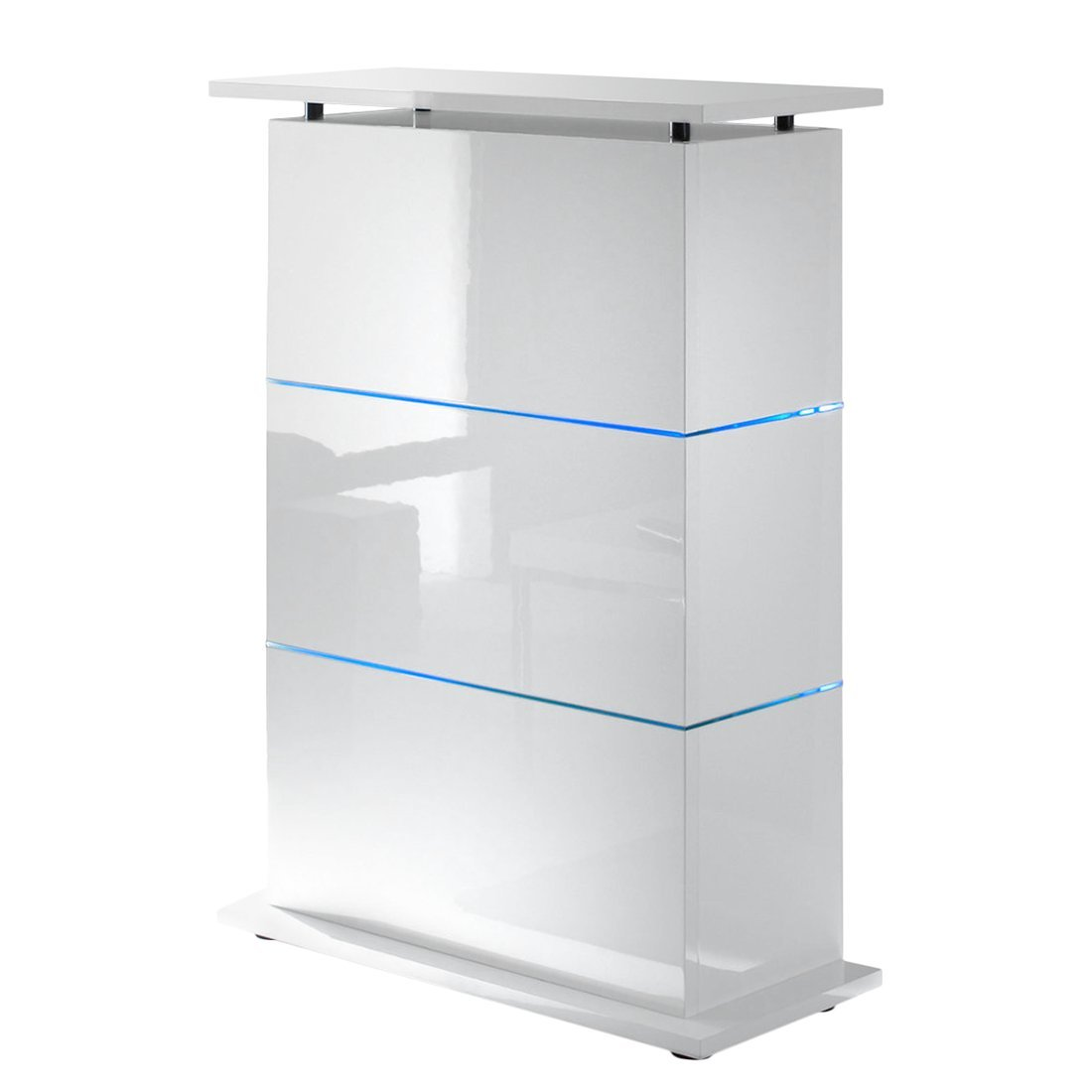 Bartisch Primo Minibar in weiß hochglanz: Amazon.de: Küche & Haushalt