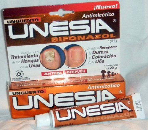 Unesia Bifonazol Fungus Treatment Cream To Aids Toe Nails 20g Tube