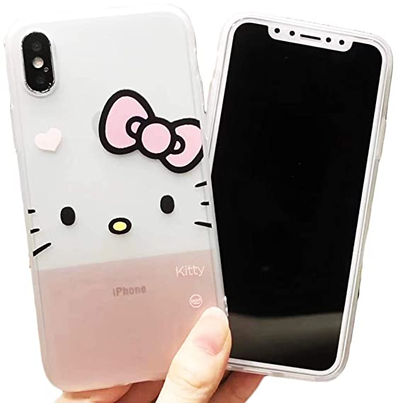4dc536843 for iPhone Hello Kitty Silicone Rubber TPU Case for Shockproof Protector  Lightweight Slim Thin Cover Accessory