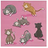 Cocktail Napkins - 150-Pack Luncheon Napkins, Disposable Paper Napkins Cat Party Supplies for Kids Birthdays, 2-Ply, Unfolded 13 x 13 Inches, Folded 6.5 x 6.5 Inches