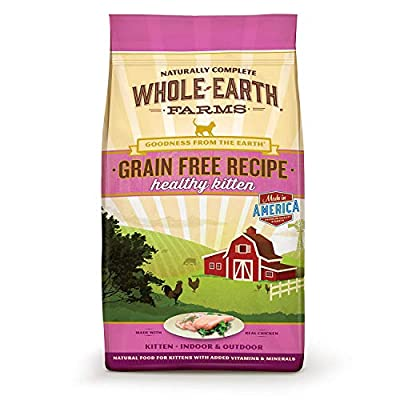 Cat Food Whole Earth Farms Grain Free Recipe Dry Cat Food, Kitten [tag]
