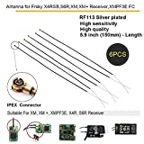 #2: 6pcs Receiver Antenna for Frsky X4RSB X4R S6R XM XM+ / XM Plus Receiver ,and XMPF3E Flight Controller , 150MM 2.4G Upgraded Antenna