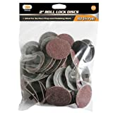 IIT 82042 2'' Roll Lock Sanding Discs 180 Grit (100 PC)