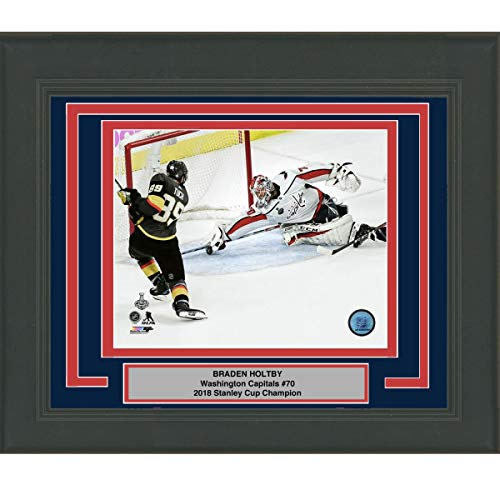 - Framed Braden Holtby Save Game 4 Washington Capitals 2018 Stanley Cup Champions 8x10 Hockey Photo Professionally Matted #2