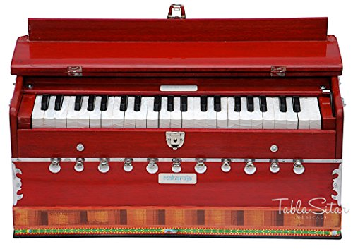maharaja-red-harmonium-11-stopper-3-1-2-octave-with-coupler-comes-with-book-bag-tuned-to-a440-pdi-ab