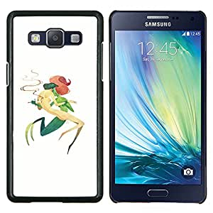 LECELL--Funda protectora / Cubierta / Piel For Samsung Galaxy A5 A5000 -- Sirena Verde Daga Letting Go Arte Simbólico --
