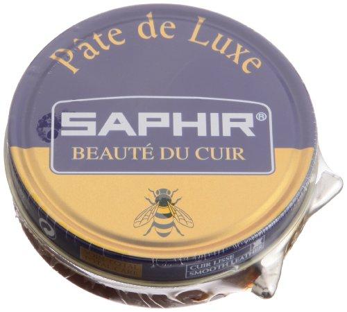 Saphir 'Pate de Luxe' Wax 50ml. Tin Light Brown