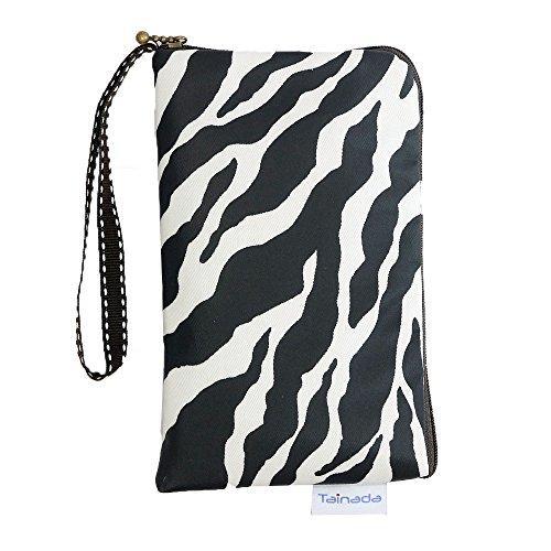 Women Universal Phone Wristlet Wallet Pouch, Tainada Dual Slots Zipper Purse Carry Case Bag for iPhone Xs Max, XR, Xs, Samsung S10, S10+, LG G8, Moto Z4, Google Pixel 3 XL, 3a (Zebra)