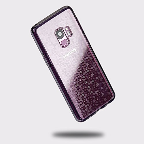 Samsung Galaxy S9 case, SMASS Secret Shine Slim Clear Bumper Shock-Absorption Cover Ultra Drop Protection Anti Scratch Clear Back for Galaxy S9 - Gray & Circle (Patterned Top Gy)