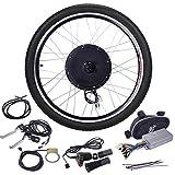 JAXPETY 48V 1000W Electric Bicycle Cycle E Bike 26' Front Wheel Ebike Hub Motor Conversion Kit Hub Motor Wheel