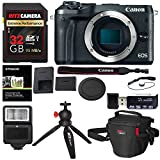 Cheap Canon EOS M6 Mirrorless Digital Camera Body (Black), Ritz Gear Extreme SD 32GB U3 Card, Tabletop Tripod, Photo Pack, Screen Protector, Card Reader, Camera Flash, and Accessory Bundle