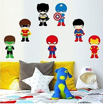 Varios Superhéroes Los Vengadores Pegatinas De Pared Para Niños Habitación Decoración Del Hogar Diy Calcomanías Mural De Dibujos Animados Pvc Arte ...