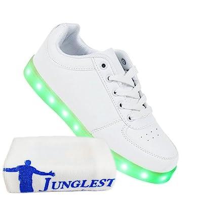 (Present:kleines Handtuch)Weiß 40 JUNGLEST Licht Schuhe Light Sneakers Neu High Leuchtende Led Freizeit Blinkende D sjEgS4Jz