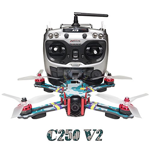 ARRIS-C250-V2-250mm-RC-Quadcopter-FPV-Racing-Drone-RTF-wFlycolor-4-in-1-Tower-Radiolink-AT9-4S-Battery-HD-Camera