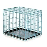 Easy Dual Latching Dog Crate, Large, Teal