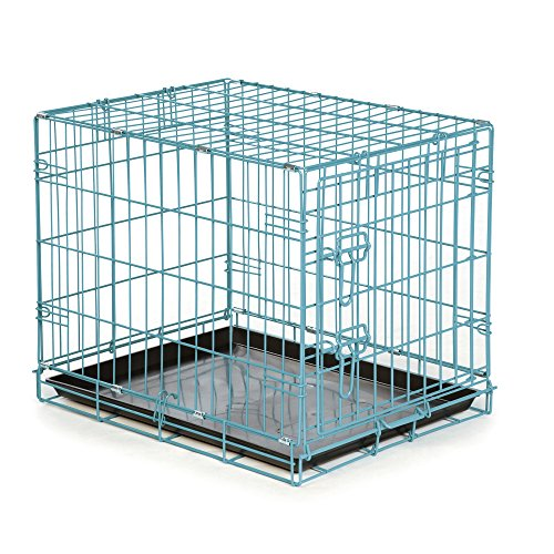 Easy Dual Latching Dog Crate, Large, Teal by Easy