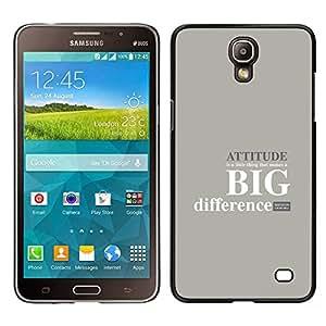 Stuss Case / Funda Carcasa protectora - ACTITUD - GRAN DIFERENCIA - Samsung Galaxy Mega 2