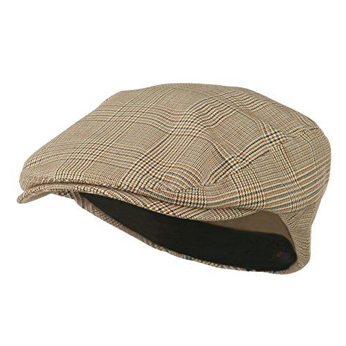 Beige Plaid Ivy Newsboy Cap ()