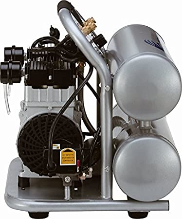 California Air Tools CAT-4620AC Ultra Quiet /& Oil-Free 2.0 hp 4.0 gallon Aluminum Twin Tank Electric Portable Air Compressor Silver