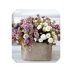 Small Clove Carnation Artificial Flower Bouquet Wedding Home Soft Decoration Handmade Flower Wall DIY Material Gift 60