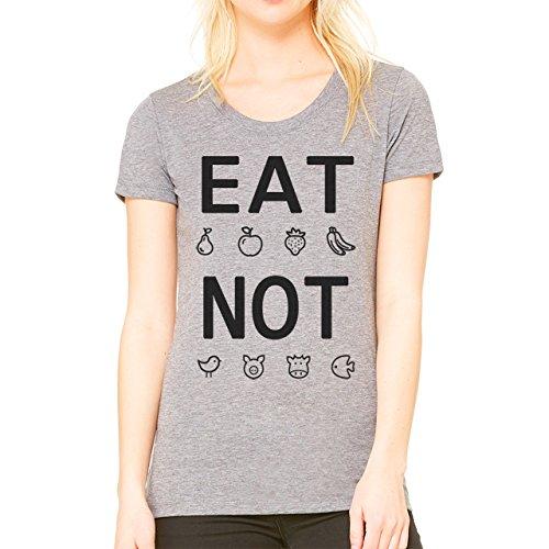 Eat Fruits Not Friends Animals Vegan Vegeterian Theme Design Damen T-Shirt