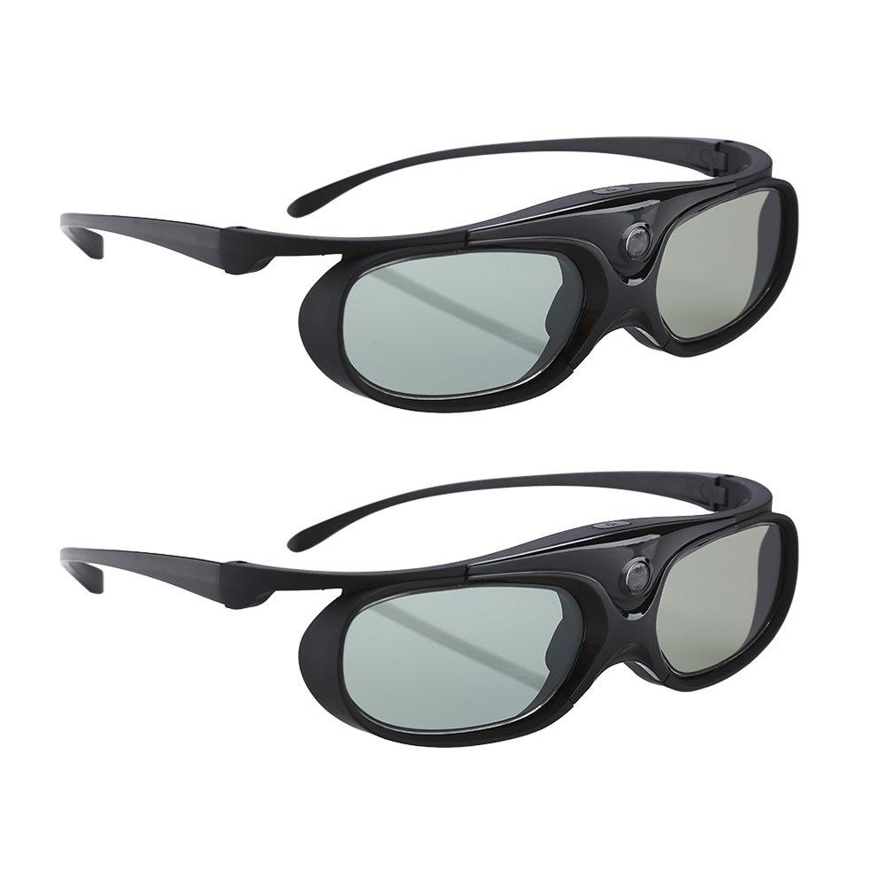 BOBLOV Active Shutter 3D Glasses DLP-Link USB Compatible BenQ W1070 W700 Dell DPL-Link Projectors