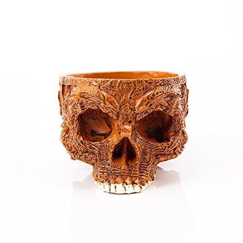 1PC Human Skull Flower Pot Decorative Bowls & Plates Hand Carved Resin Crafts Alien Mask Garden Pot For Halloween Home Decor from Garden Decorations Outdoor M and F