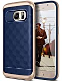 Galaxy S7 Case, Caseology [Parallax Series] Textured Pattern Grip Case [Navy Blue] [Shock Proof] for Samsung Galaxy S7 (2016) - Navy Blue
