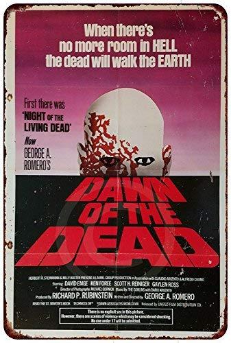 qidushop - Póster de la película Dawn of The Dead (Aluminio, Metal ...