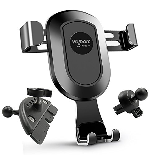 Price comparison product image Car Phone Gravity Mount Holder for Air Vent and CD Slot from Volport