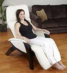 Svago Zero Gravity Recliner – Ivory Butter Touch Bonded Leather