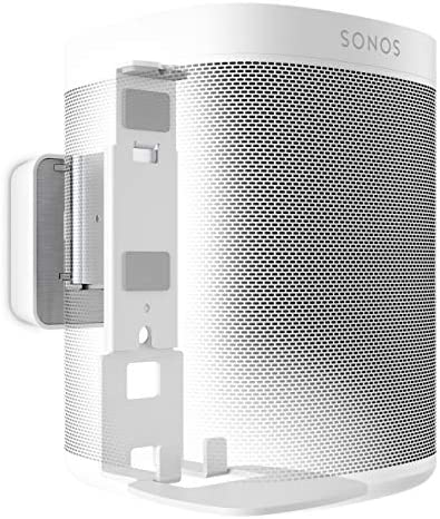Vogel s Sound 4201 Speaker Wall Mount Bracket for Sonos One SL Play 1, Tilt 30 and Swivel 70 , White