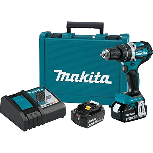 "18V LXT Lithium-Ion Compact Brushless Cordless 1/2"" Hammer Driver-Drill Kit - Makita XPH12T"