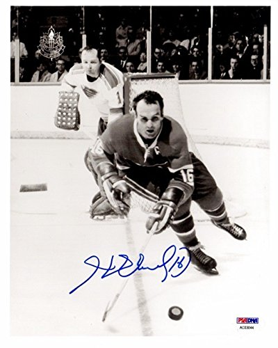 Henri Richard Autographed Signed Montreal Canadiens 8x10 inch Photo NHL Hall of Fame Member PSA/DNA Authentic