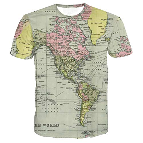 - ✿HebeTop✿ Unisex 3D Novelty Tshirts Men Graphic Funny Tees Printed Crewneck Short Sleeve Summer Top T-Shirts Yellow