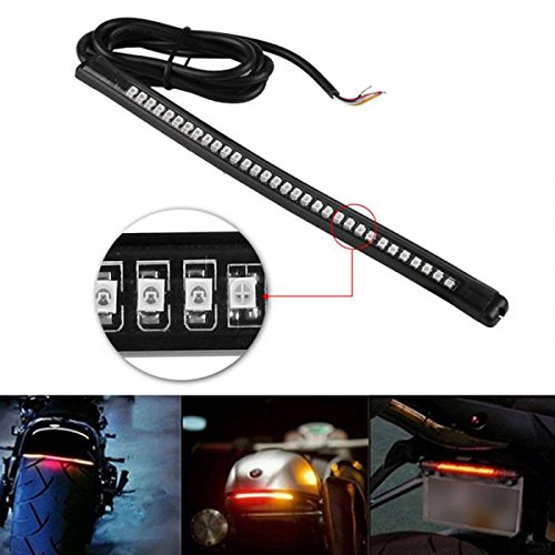 "Universal LED Light Strip Tail Brake Stop Turn Signal 32 Led 8"" Flexible Led Light for Motorcycle"