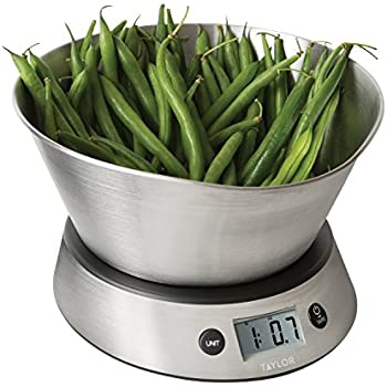 Taylor Weighing Bowl Digital Kitchen Scale, 11 Lb. Capacity