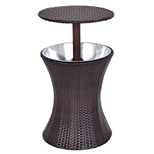Cool Bar Table Adjustable Outdoor Patio Rattan Ice Cooler Party Deck Pool 1 Pcs