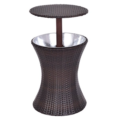 Adjustable Outdoor Patio Rattan Ice Cooler Cool Bar Table Party Deck Pool 1PC + FREE E-Book by Unknown