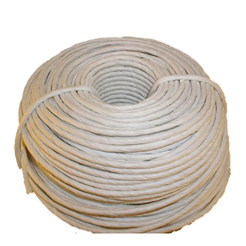 White Fibre Rush 6/32 in a 2 Pound Coil (280 Feet) White Fiber Rush Ladderback Chairs Seating Material (6/32 White)