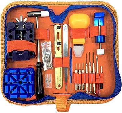 QwikFixxer Watch Repair Kit: 16 Universal Tools, Case Wrench, Watch Band Tool, Bonus Spring Bars