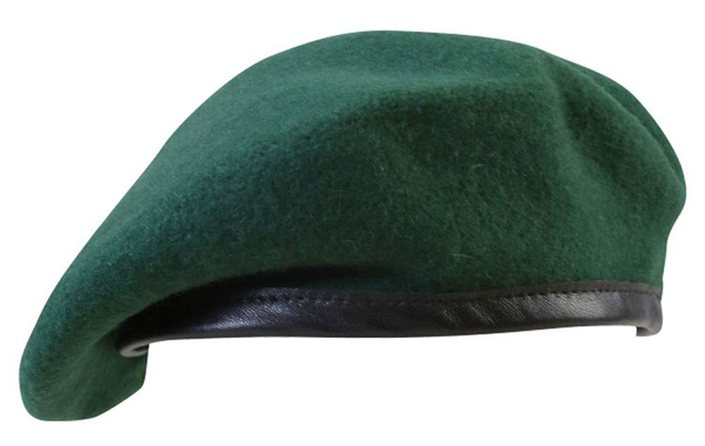 dcd6a712bdf Mens Army Combat Military Beret Cap Hat Color Green Wool XS - XL   Amazon.co.uk  Sports   Outdoors