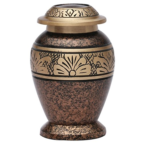 Home Decors Copper Marble Small Keepsake Funeral Urn, Brass Cremation Urn for Ashes USA
