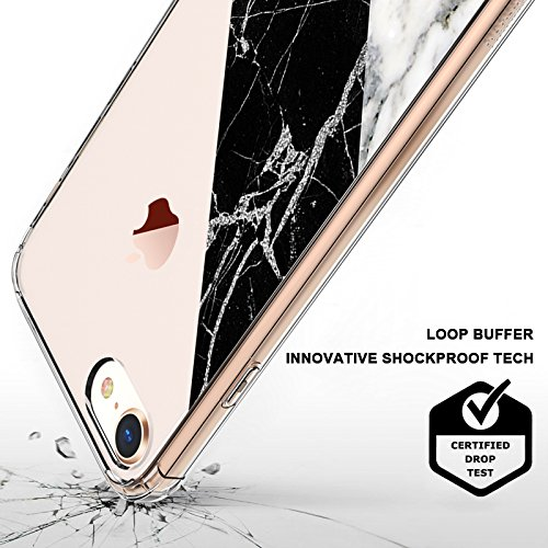 Mix Design Case for iPhone 7 iPhone 8 Fashion White Black Marble