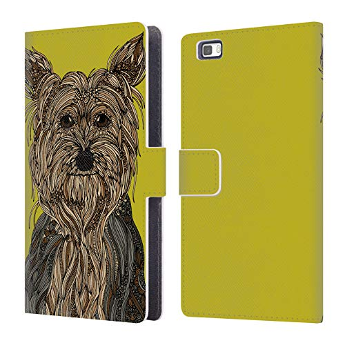 Yorkshire Ale - Official Valentina Yorkshire Terrier Dogs Leather Book Wallet Case Cover for Huawei P8lite / ALE-L21