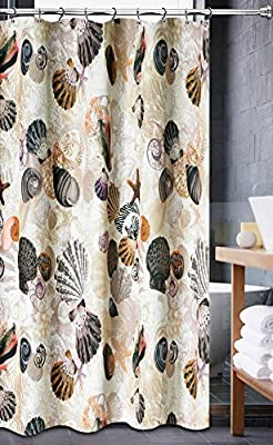 Amazon Luxa Hotel Collection Fabric Shower Curtain Beach Life Natural 70x72 Inch Home Kitchen