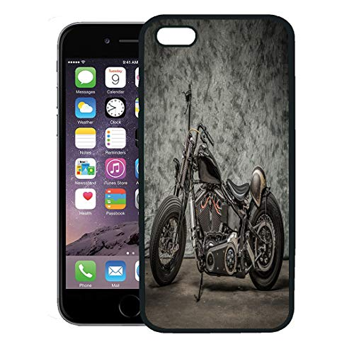 Semtomn Phone Case for iPhone 8 Plus case,Harley Motorcycle Cool Davidson Vintage Bike Chopper Classic iPhone 7 Plus case Cover,Black