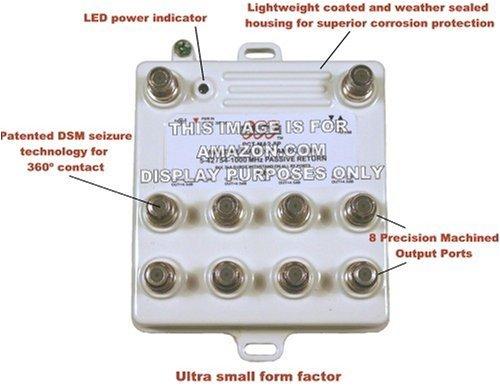 8 port bi directional cable tv hdtv amplifier splitter for Amplificador tv cable coaxial