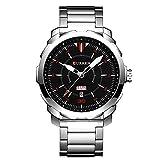 CURREN Men Watch with Week Date Waterproof Sport Quartz-Watch Best Valentine's Day Gift for him 8266